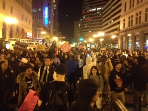 Downtown Oakland the night in question