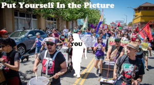 """From a Photo by Brooke Anderson """"Oakland May Day 2016"""""""